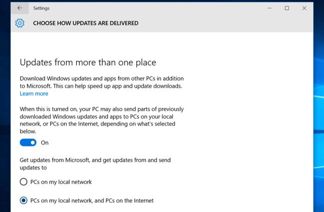 Windows 10 peer to peer